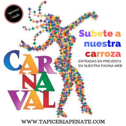Montate en la Carroza del Carnaval de Maspalomas