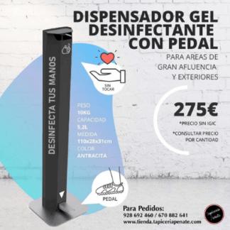 Dispensador Gel Desinfectante con Pedal