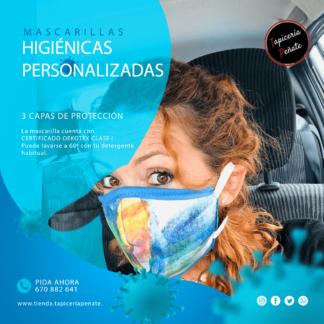 Mascarillas Higienicas Reutilizables Personalizables